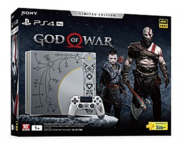 SONY INTERACTIVE ENTERTAINMENT TAIWAN 將於2018.4.20推出 「PLAYSTATION®4 PRO GOD OF WAR™ LIMITED EDITION」
